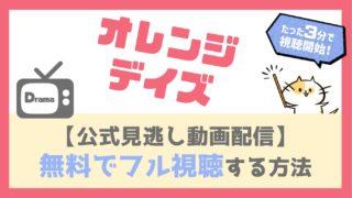 オレンジデイズ動画配信を無料で全話フル視聴する方法!妻夫木聡・柴咲コウ主演の恋愛ラブストーリーの超名作!